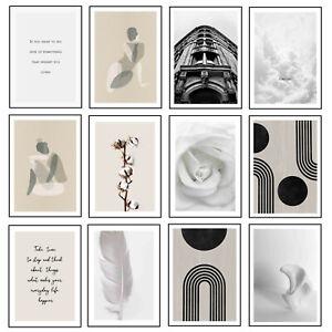 White Elegance Prints Chick Quality Posters Stylish Wall Art Modern Home Decor