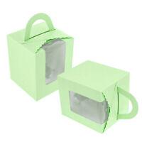 20stk Grün Tortenbox Cupcake Muffin Kuchenboxen Durchsichtigen Fenster