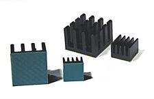 Raspberry Pi Kühler Cooler Kühlkörper  CPU / GPU + Lan / USB, Wärmeleitfolie NEU