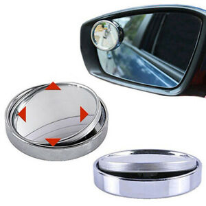 1* Car Wide Angle Convex Blind Spot Rearview Side View Mirror Accessories Latest