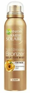 Garnier Ambre Solaire No Streaks Bronzer Mist For Face 75ml (Buy 1 or 2 Sprays)