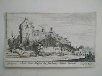 Gravure originale XVIIème Israël Silvestre Paris Faubourg Saint-Germain