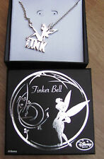 Genuine Disney TINKERBELL silver silhouette Tink necklace UK SELLER