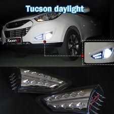 [Kspeed] (Fits: HYUNDAI TUCSON IX35) DRL LED Fog Lamp Positioning Day Light