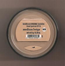 Bare Escentuals BareMinerals Medium Beige Original Foundation N20 8g XL SPF15