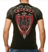 Kingz SWORD Herren T-shirt Stretch Schwarz Alle Gr. Neu