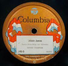 ERNEST THOMPSON~Jessie James & Lightning Express~Hillbilly 78~COLUMBIA #145-D