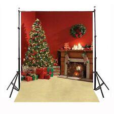 5x 7Ft Christmas Tree fireplace Art Backdrop Photography Photo Studio Background