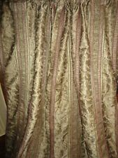 CROSCILL CLASSIC TANGIER BRONZE BROWN GOLD PAISLEY (PAIR) LINED PANELS 40 X 83