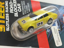 AFX FORD ESCORT~~RARE Solid YELLOW~~ #21 on Card NEW Model Motoring HO Aurora HO