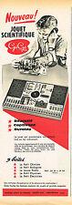 PUBLICITE ADVERTISING 015  1960   GEGE  jeux JOUETS SCIENTIFIQUES
