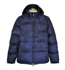 Polo Ralph Lauren Water-Repellent Down Camo Jacket Men's XL Blue Navy NWT $328