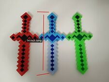 Minecraft light up pixel Sword small Diamond LED Flashing Lights and FX Sounds