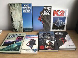 Various Rock and Mountain Climbing Books K2 - Everest - Bonnington 7 in Total