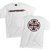 Independent Bar and Iron Cross Logo Skateboard Tee T-shirt White M L XL XXL