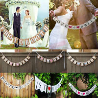 Romantic Bunting Banner for Rustic Country Wedding Party Hanging Decoration