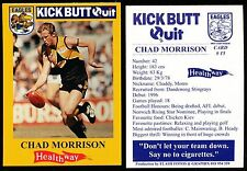 1997 West Coast Eagles Kick Butt Quit Healthway Chad Morrison