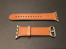 Authentic Apple Watch Saddle Brown Genuine Leather Band - 38mm Classic Buckle