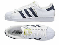 Adidas Originals Unisex Youth Superstar Foundation J Shoes S81014 White/Navy