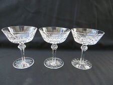 "Waterford Crystal SHANDON Cut Champagne Sherbet Glass 5"" Tall Set of 3 Excellent"