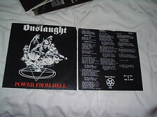 ONSLAUGHT Power From Hell '85 LP RARE UK THRASH metal ORIGINAL IMPORT !!!! press