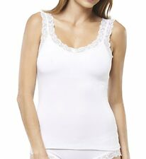 FLEUR'T LACE STRAP CAMISOLE IN WHITE SIZE LARGE