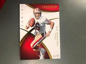Joe Montana 2015 Immaculate Football Card #30/99 San Francisco 49ers T21
