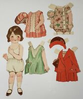 "Vintage Paper Doll ""Louis"" Girl with outfits"