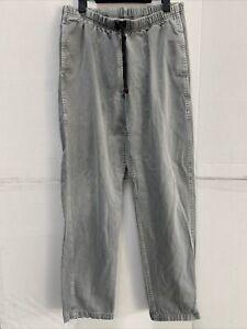 Gramicci Hiking Climbing Pants Medium Elastic Belted Waist Nylon Made In USA L