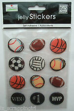 ~SPORTS BALLS~ Jelly Stickers MAMBI Me And My Big Ideas BASEBALL FOOTBALL SOCCER