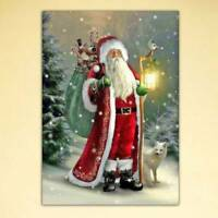 Xmas Santa Claus DIY 5D Full Drill Diamond Painting Embroidery Cross Stitch Kit