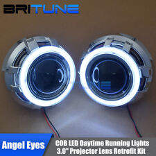 3.0'' HID Bi-xenon Projector Lens LED Daytime Running Lights COB Angel Eyes Halo