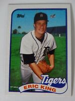 1989 Topps Eric King Detroit Tigers Wrong Back Error Baseball Card