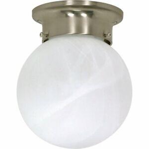 Nuvo Lighting 60-257 Flush Mount, Brushed Nickel, Frosted Glass, 100 Watt