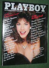 Playboy Dec 1985 Holiday Christmas Barbi Benton Letterman Bill Cosby interview