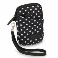 Compact Digital Camera Carrying Case with Neoprene , Belt Loop and Wrist Strap