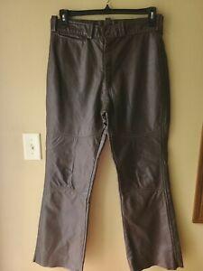 VTG 60-70s Harley-Davidson Brown Leather Pants Sz 34 Motorcycle Trouser AMF Jean