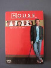 Lote 6 DVD en su caja original HOUSE LA TERCERA TEMPORADA COMPLETA 3 TRES