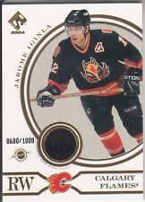 03/04 Pacific Private Stock Calgary Flames Jarome Iginla GUJ #/1000 - Black