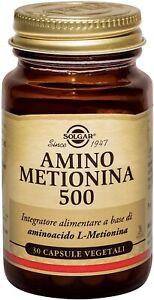 Solgar Amino Metionina 500 - Bottiglietta da 30 capsule vegetali