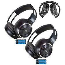 2 Fold In Wireless Infrared Dvd Rear Headphones Headset For Pickup Truck Van Toy