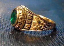 Shadow Mountain Matadors 1998 Class Ring w/green stone-- Size 9 -- marked YLTM