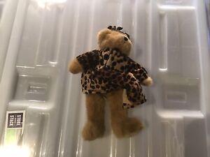 Leopard Dress Wearing Teddy Bear