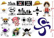 Cosplay Tattoo One Piece D Luffy Chopper Nami Robin Straw Hat Body Art Sticker