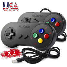 2x 4x Kiwitata SNES USB Port Gamepad Wired Controller For PC Mac Raspberry Pi