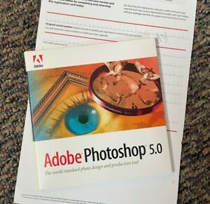 Adobe Photoshop 5.0 upgrade for Mac with Serial Number