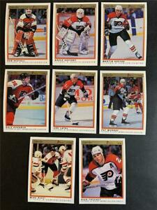 1990/91 OPC O-Pee-Chee Premier Philadelphia Flyers Team Set 8 Cards