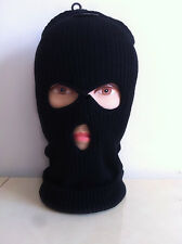 Men 3 Hole Face Mask Winter Beanie Ski Snowboard Hat Cap Wear Stylish Balaclava