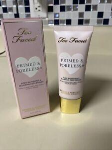 LL Too Faced Primed & Poreless + Face Primer  1.014oz/30ml Used Once