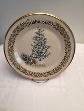 1983 Lenox Limited Christmas Commemorative Issue dinner plate - Blue Atlas Cedar